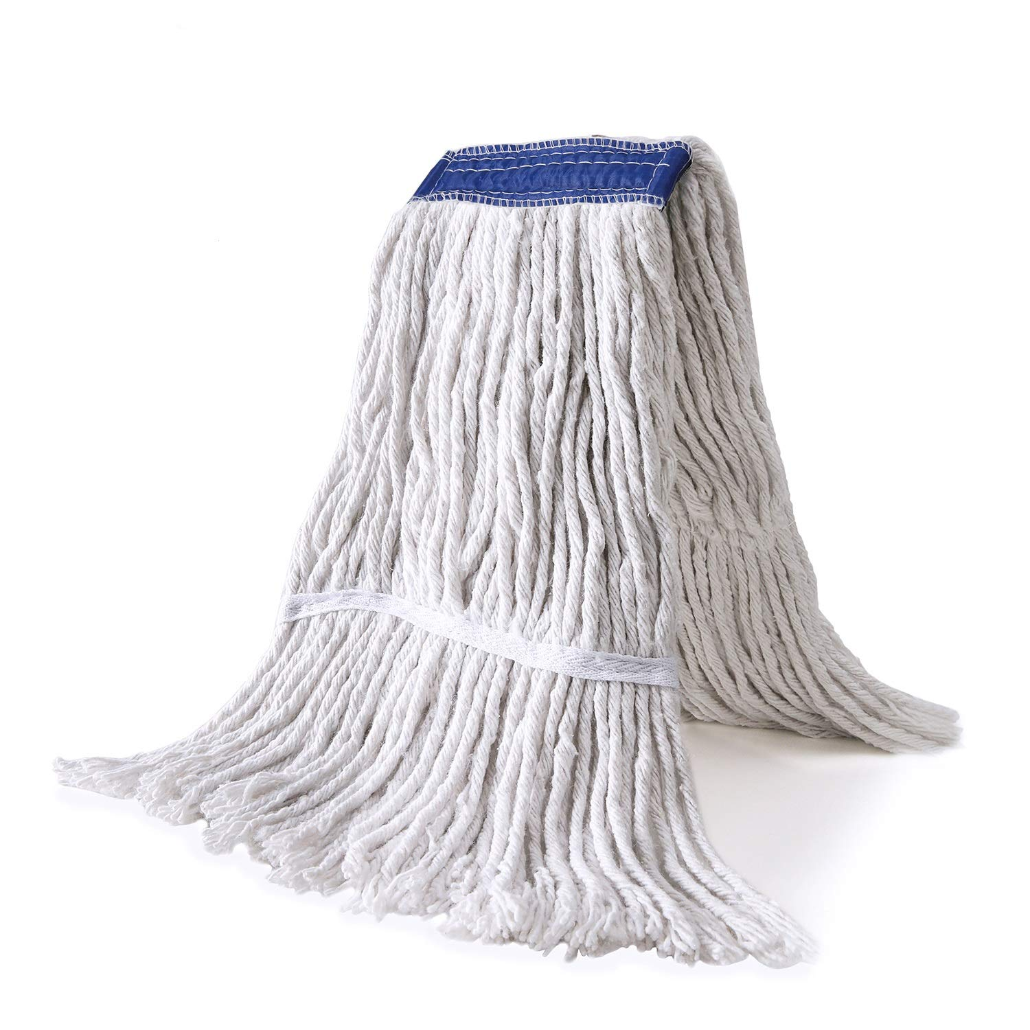 Dahey 3 Packs Heavy Duty Mop Heads Refills Cut-End String Wet Mop Head Replacement, Universal Headband for Home, Commercial, and Industrial Use, Cotton, White