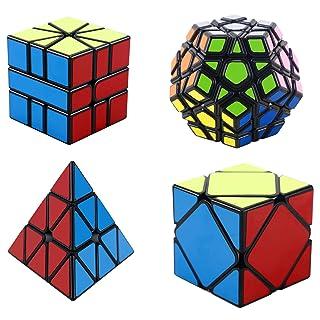 YXXHM- Decompression Toy Magic Domain Cultura Suit a forma di adesivo nero Piramide Five Magic Magic SQ1 a forma di cubo magico
