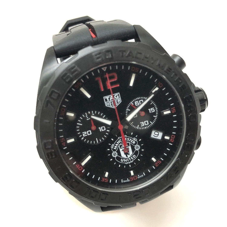 (タグホイヤー) TAG HEUER CAZ101J マンチェスターユナイテッド フォーミュラ1 クロノグラフ 腕時計 SS/ラバー/メンズ 新品同様 中古 B07DTLQQ7Q