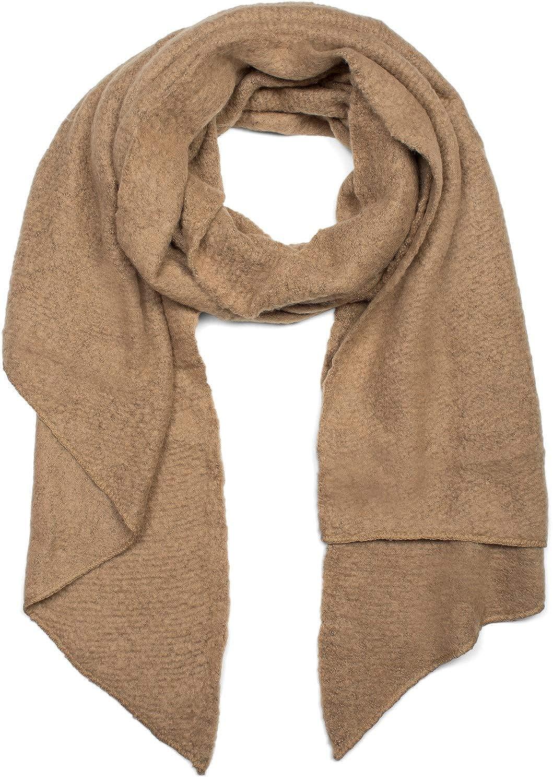 foulard 01017118 stola styleBREAKER sciarpa morbida a rete tinta unita forma asimmetrica invernale