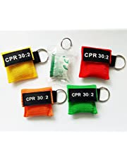 Elysaid 100pcs CPR Mask with Keychain CPR Face Shield for Aed First Aid Training Pocket Size Mix Colors