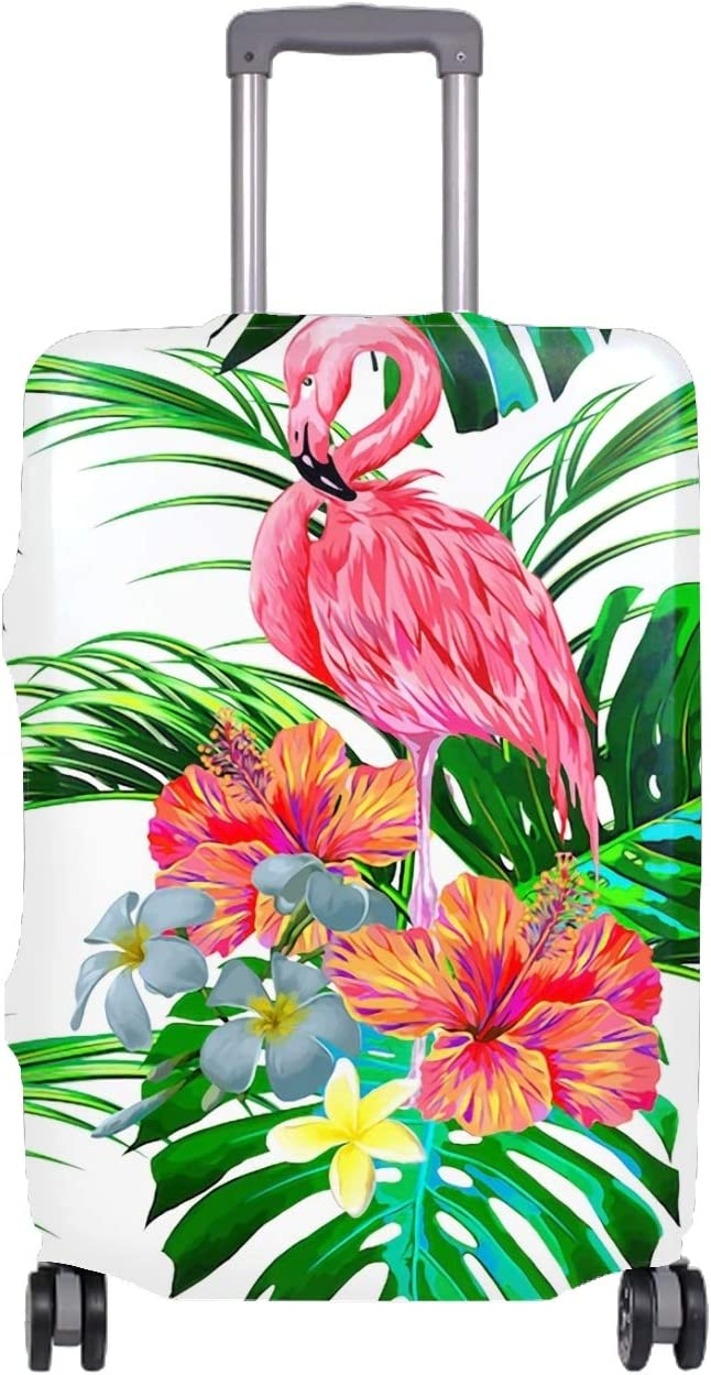 A Wild Tropical Pattern Travel Luggage Cover Suitcase Protector Fits 18-32 Inch Luggage