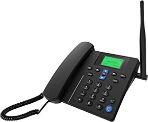 2G/GSM quadband Desktop Fixed Wireless Phone for Home Office with FM,sim,SMS(Black)
