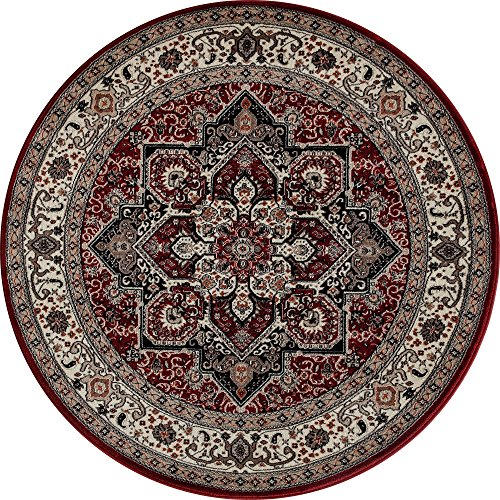 Art Carpet Dexter Collection Kaleidoscope Woven Round Area Rug, 5', - Kaleidoscope Cream