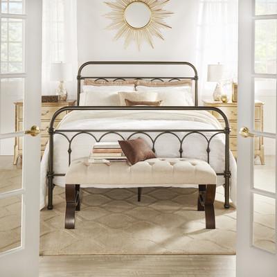 Three Posts Metal Panel Bed & Reviews | Wayfair