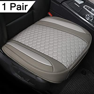 Black Panther 1 Pair Luxury PU Leather Car Seat Covesr for Front Seats (Bottom),Compatible with 90% Vehicles - Mixed Silver (21.26×20.86 Inches): Automotive