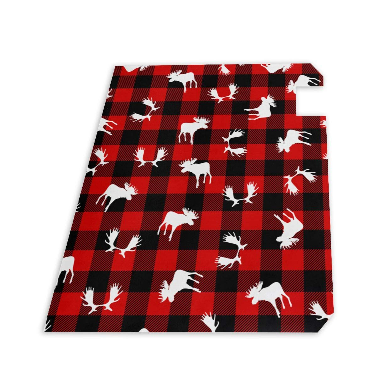 PBZNAN Lumberjack Plaid Moose Mailbox Covers Magnetic Mail Post Cover Mailbox Wraps 21x18 in