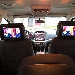 Amazon Com Rockville Car Audio Mobile Video Headrest Monitors With D Black 9 Inch Rdp931 Bk Musical Instruments