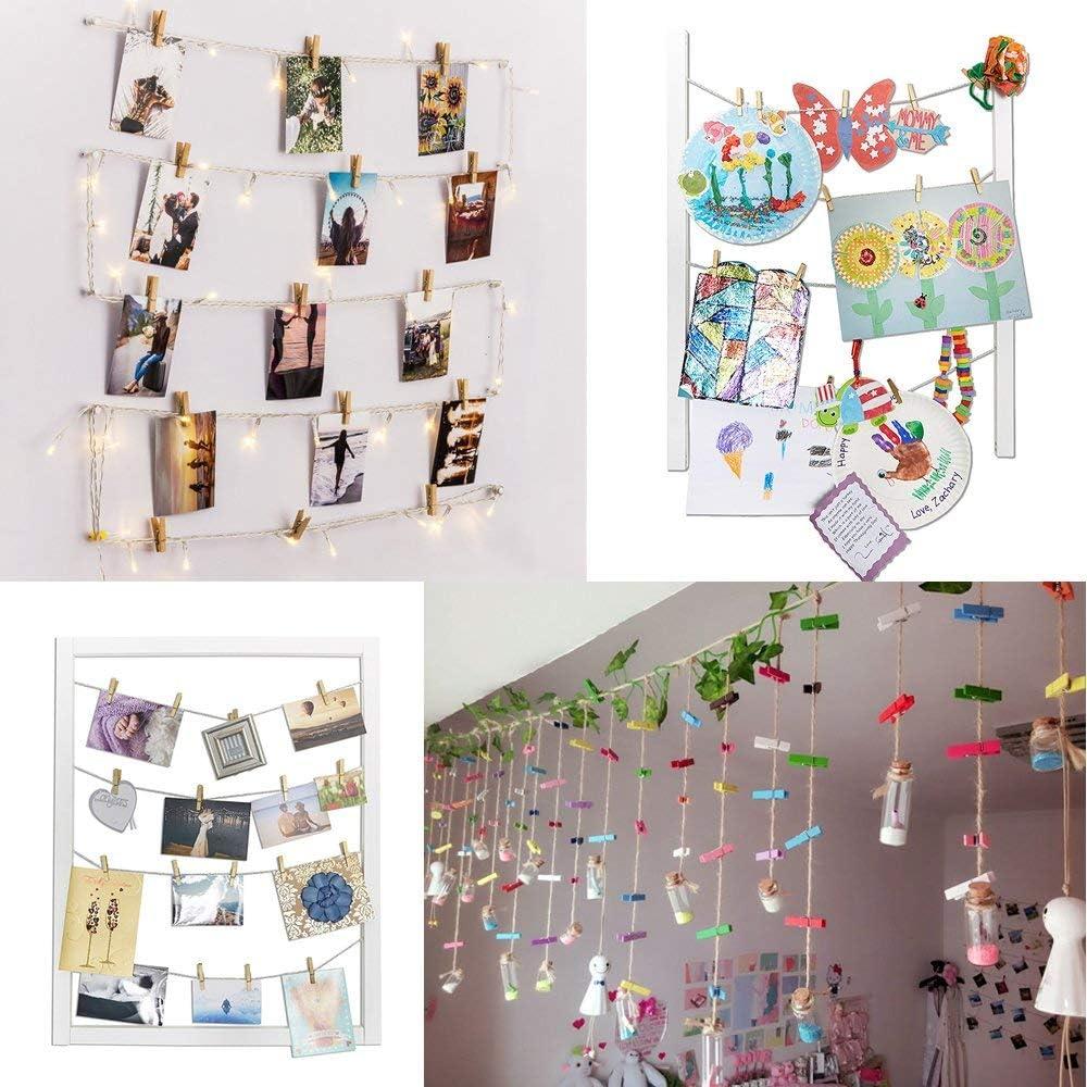 Okaytec - 100 Mini Pinzas de Colores Decorativas – Pinzas para ...