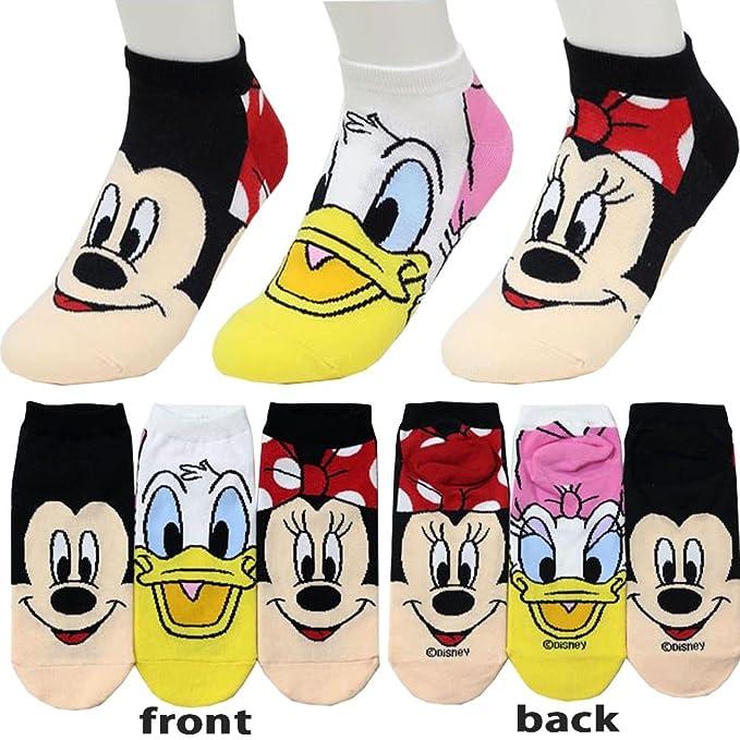 Small luxury socks factory Calcetines de Corte bajo Calcetines de Mickey Mouse para niñas Pack de