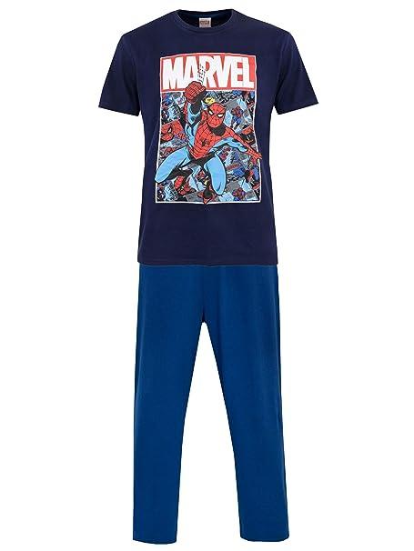 selezione migliore e8f69 75a59 Spiderman - Pigiama per Uomo - Marvel Uomo Ragno - Blu - XX Large ...