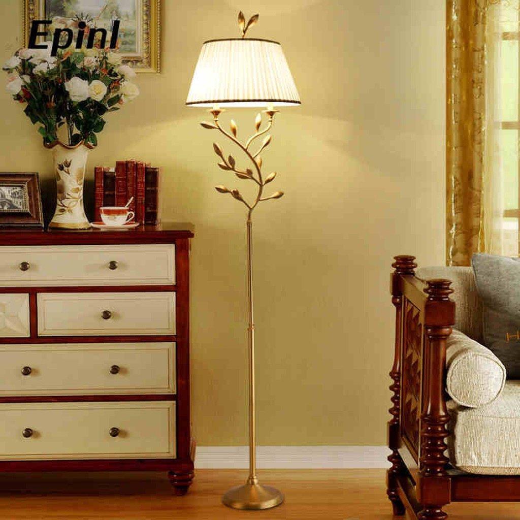 Europäische - Stil einfache Stehlampe voll Kupfer amerikanischen Gartenstehlampe Wohnzimmer Schlafzimmer Arbeitszimmer Stehlampe warme romantische Modelle