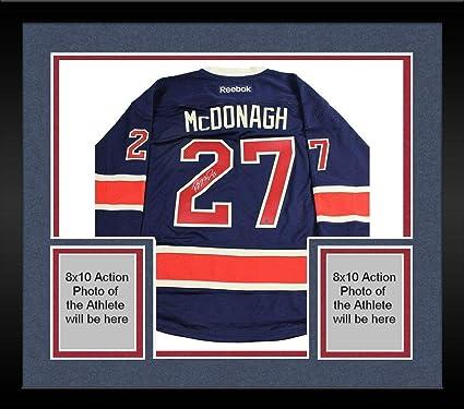 watch ad391 8ef82 Framed Ryan McDonagh New York Rangers Signed Navy Heritage ...