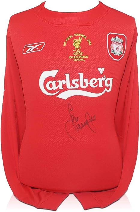Firmado camiseta de Jamie Carragher del Liverpool 2005 Liga de Campeones: Amazon.es: Deportes y aire libre