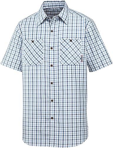 Merrell Galvaston - Camisa para Hombre (Tela de Guinga) Azul ...