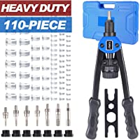 110PCS Heavy Duty Nut Riveter Rivet Rivnut Nutsert Gun Riveting Kit Thread M3-12