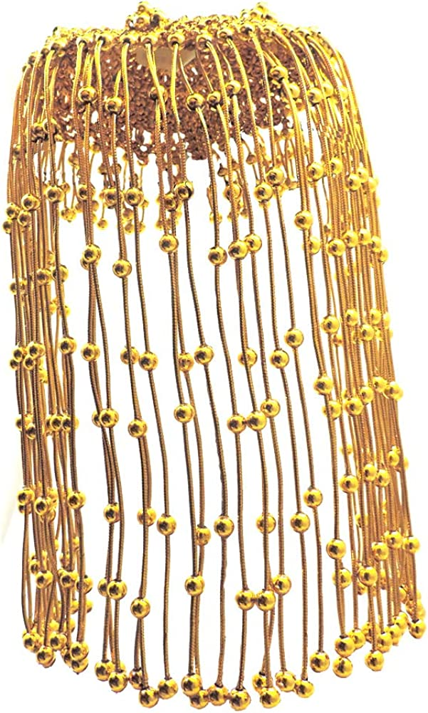 Star Power Egyptian Queen Cleopatra Gold Beaded Headdress