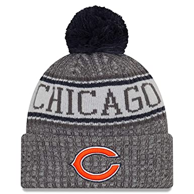 New Era Chicago Bears Gray Graphite 2018 Sport Knit NFL Beanie ece1d903996