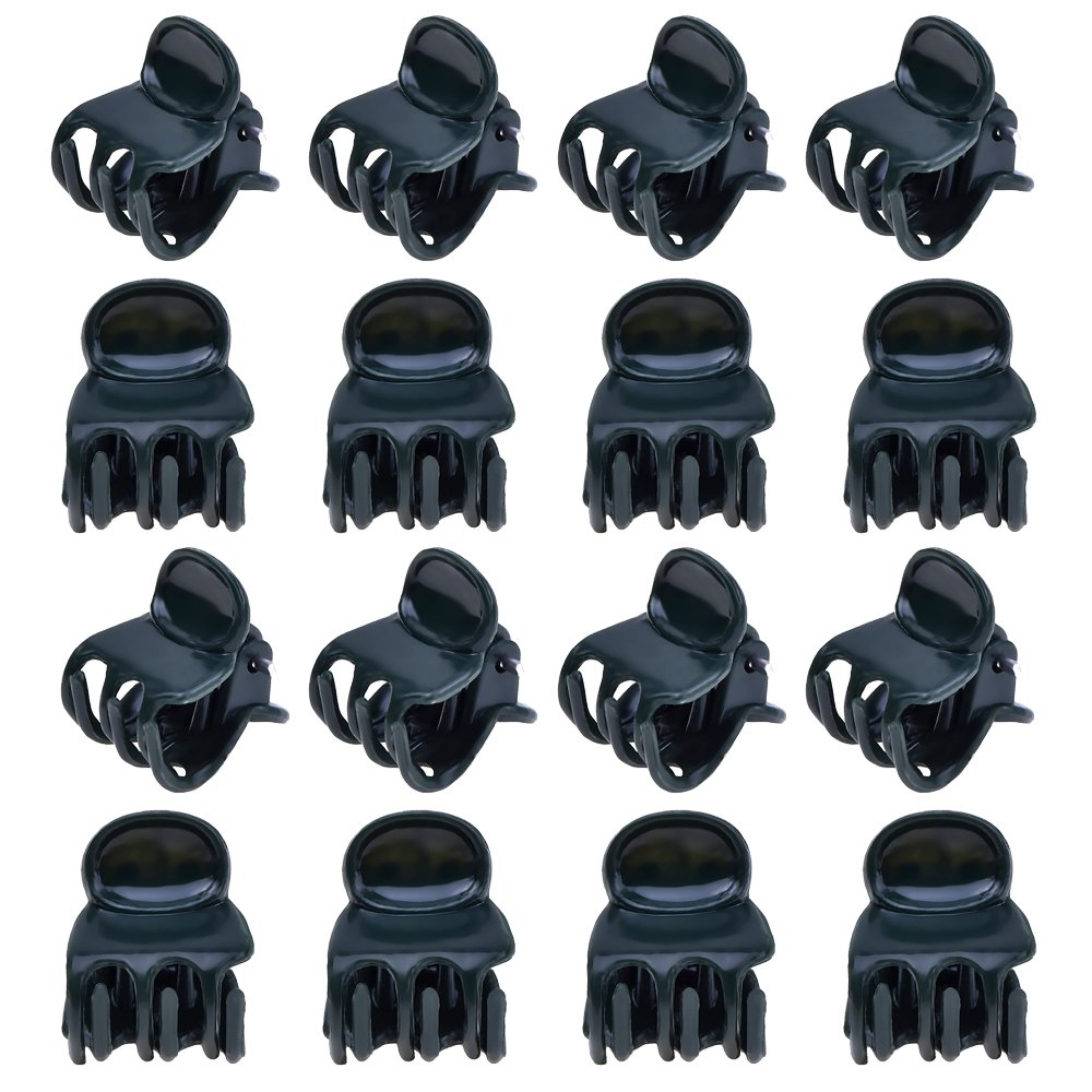100 Pack Orchid Clips Plant Orchid Support Clips, Dark Green Outus