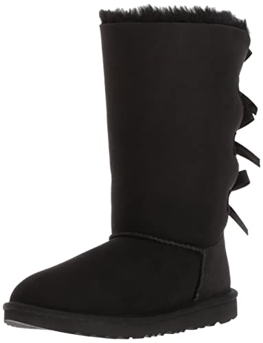 UGG Kids K Bailey Bow Tall II Pull-on Boot, Black, 13 M