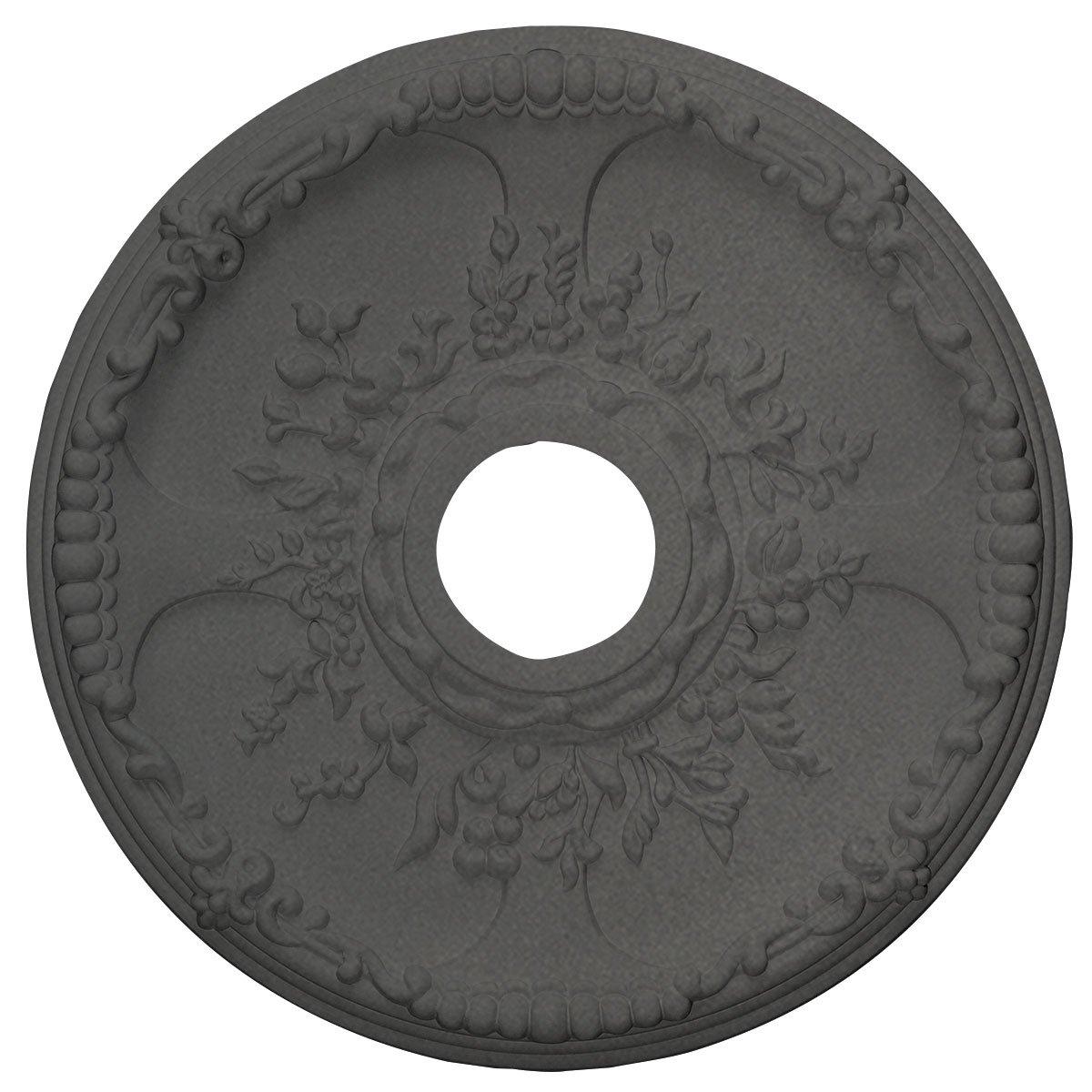 Ekena Millwork CM18SESGS Antioch Ceiling Medallion, Steel Gray