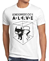 style3 Gatto di Schrödinger T-shirt da uomo