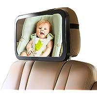 AMERTEER Baby Car Mirror, Wide Convex Back Seat Baby Mirror for Car Adjustable | Rear Facing Car Seat Mirror for…