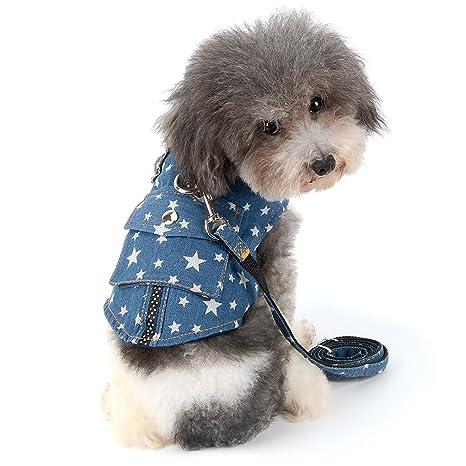 Ranphy - Arnés para Perro pequeño, Tela Vaquera Suave, Ropa para ...