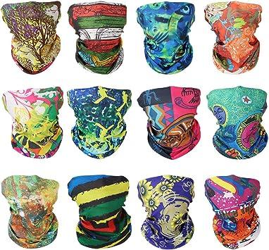 GUIFIER 12 Piezas Deportes Multiusos de Bandana Pañuelo para la Cabeza Bragas de Cabeza Multifuncional Headwear,Bufanda Sin Costura Bandana Mágica para Mujeres Hombres Ciclismo Deporte: Amazon.es: Deportes y aire libre