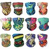 GUIFIER Face Mask Bandanas Neck Gaiter Headwear Magic Scarf Headband for dust Sun Wind