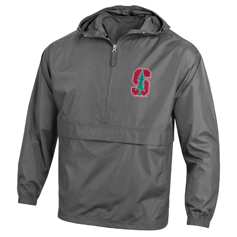 Champion NCAA Mens Half Zip Front Pocket Packable Jacket