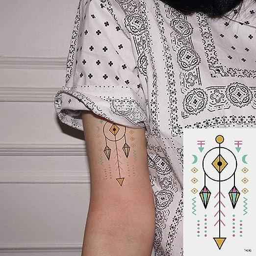 Oottati 2 Hojas Pequeño Lindo Tatuaje Temporal Tattoo Flecha ...