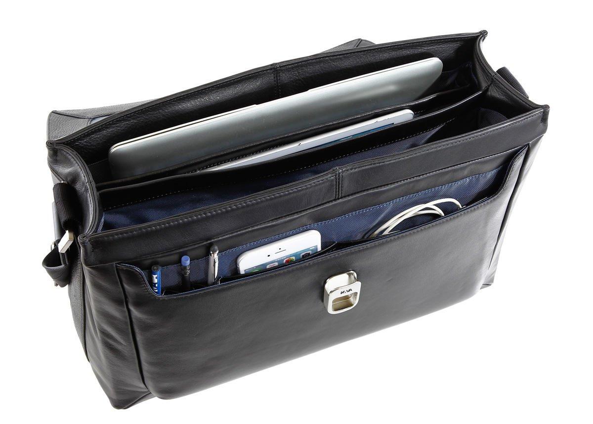 Courier Leather Bag Men's Work, 1 Compartment, PC Port: Amazon.co.uk:  Electronics