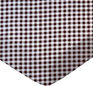 product image for SheetWorld Fitted 100% Cotton Percale Play Yard Sheet Fits BabyBjorn Travel Crib Light 24 x 42, Brown Gingham Check, Made in USA