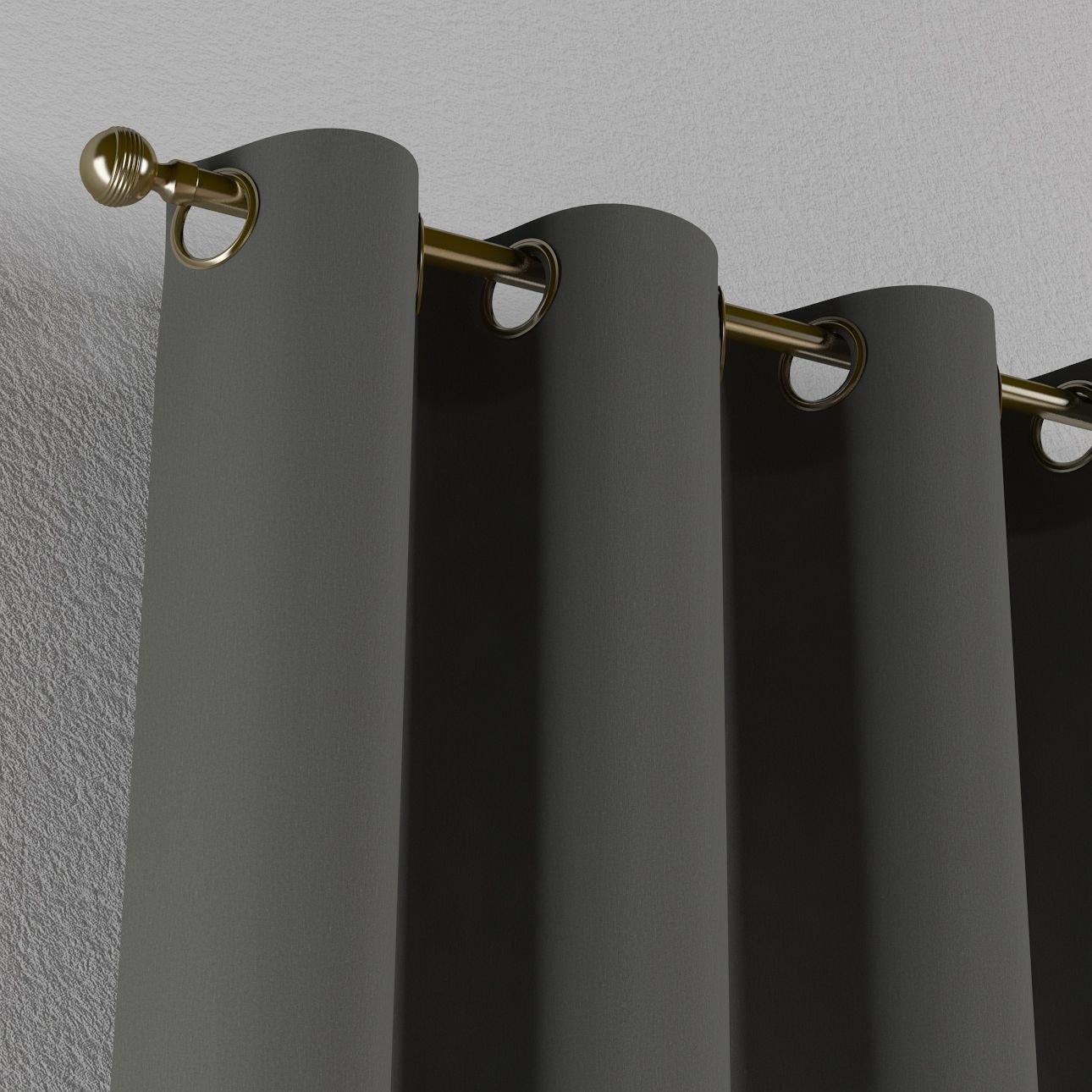 Breite x H/öhe 130 x 190 cm Dekoria ma/ßgeschneiderter Vorhang mit /Ösen Blickdicht Gr/ö/ße w/ählbar max grau 818-136-14