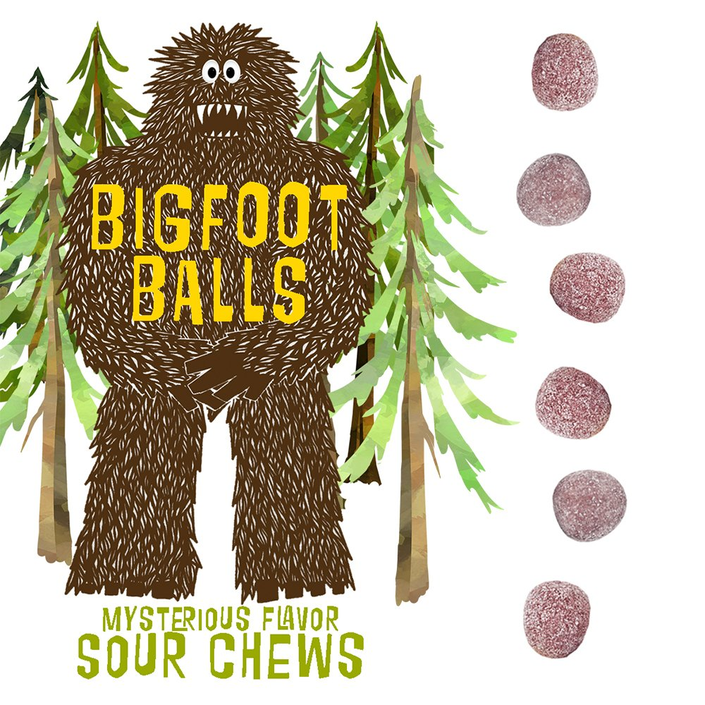 Bigfoot Ballz Sour Candy - Mystery Flavor Balls - MADE IN THE USA - Best Stocking Stuffer for Men