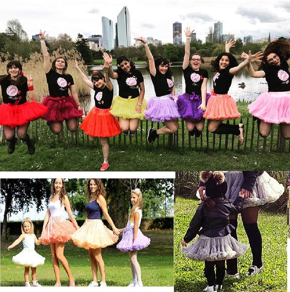 DoGeek Tutu Bambina Layered Dance Performance per Ragazze Puffy Tutu Ballet Skirt