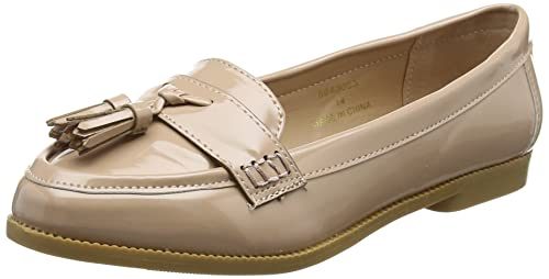 New Look Wide Foot Jenson, Mocasines para Mujer, Beige (Oatmeal 14), 39 EU: Amazon.es: Zapatos y complementos