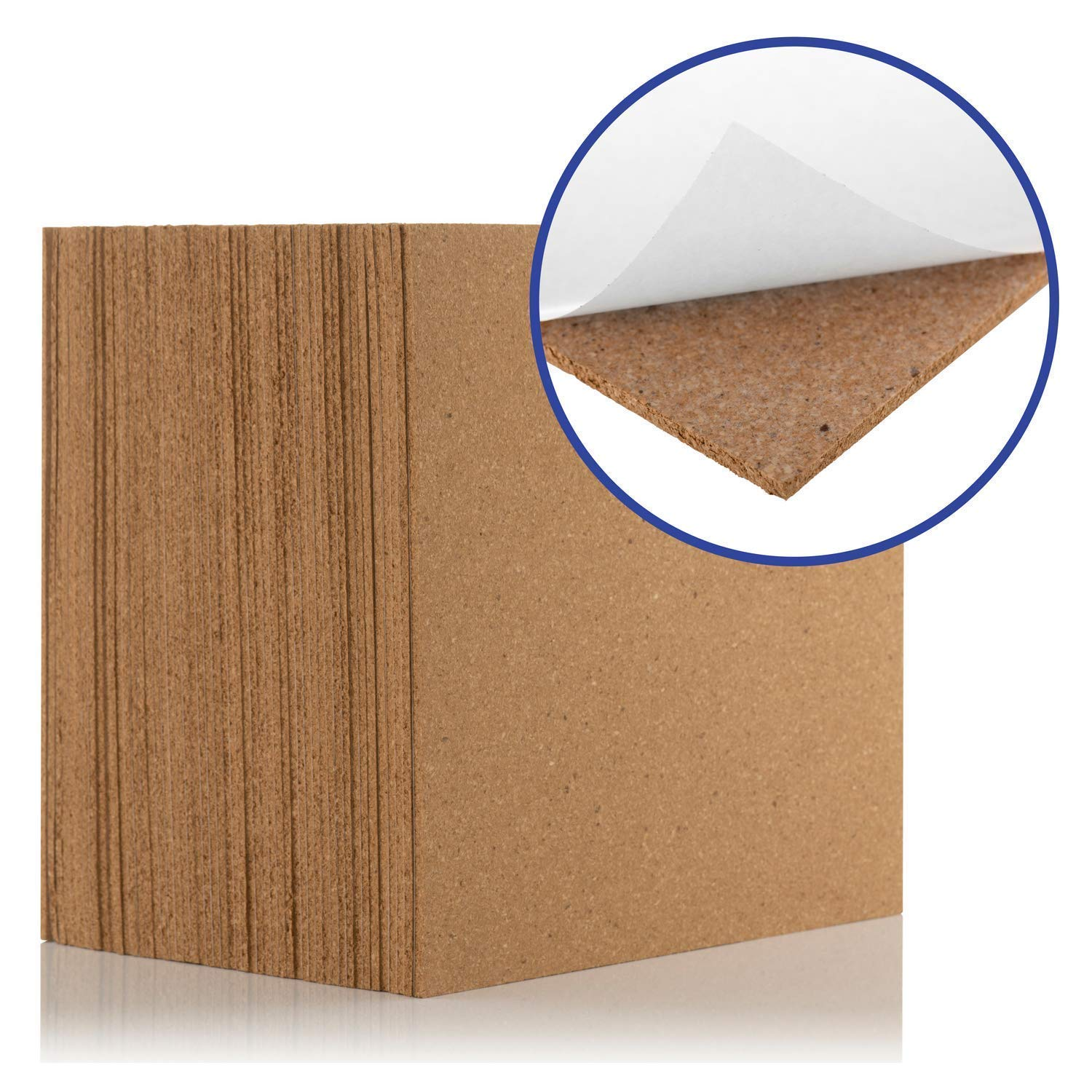 Cork Tiles Self-Adhesive (1.8 sqm coverage) - Natural 300x300mm, Tiles | Great for Floors, Walls, DIY, Pin Boards & Craft Projects | Acts as Sound Proofing & Insulation (Pack of 20) Boulder Developments Ltd BHFP-1351-20
