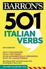 501 Italian Verbs (Barron's 501 Verbs) Kindle Edition