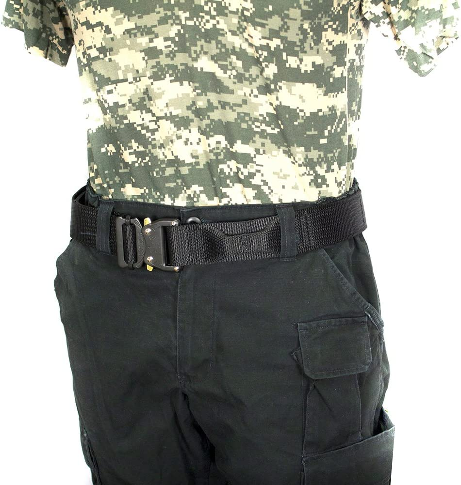 Black 1.5 Wide//7 Long Set of 4 Fusion Tactical BA-BK-8188-28-4 Military Police Patrol Belt