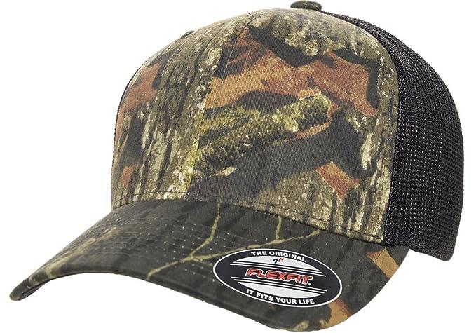 Flexfit Premium Original Blank Mossy Oak Stretch Mesh Trucker Cap (Mossy  Oak Breakup Black a7b221919e7d