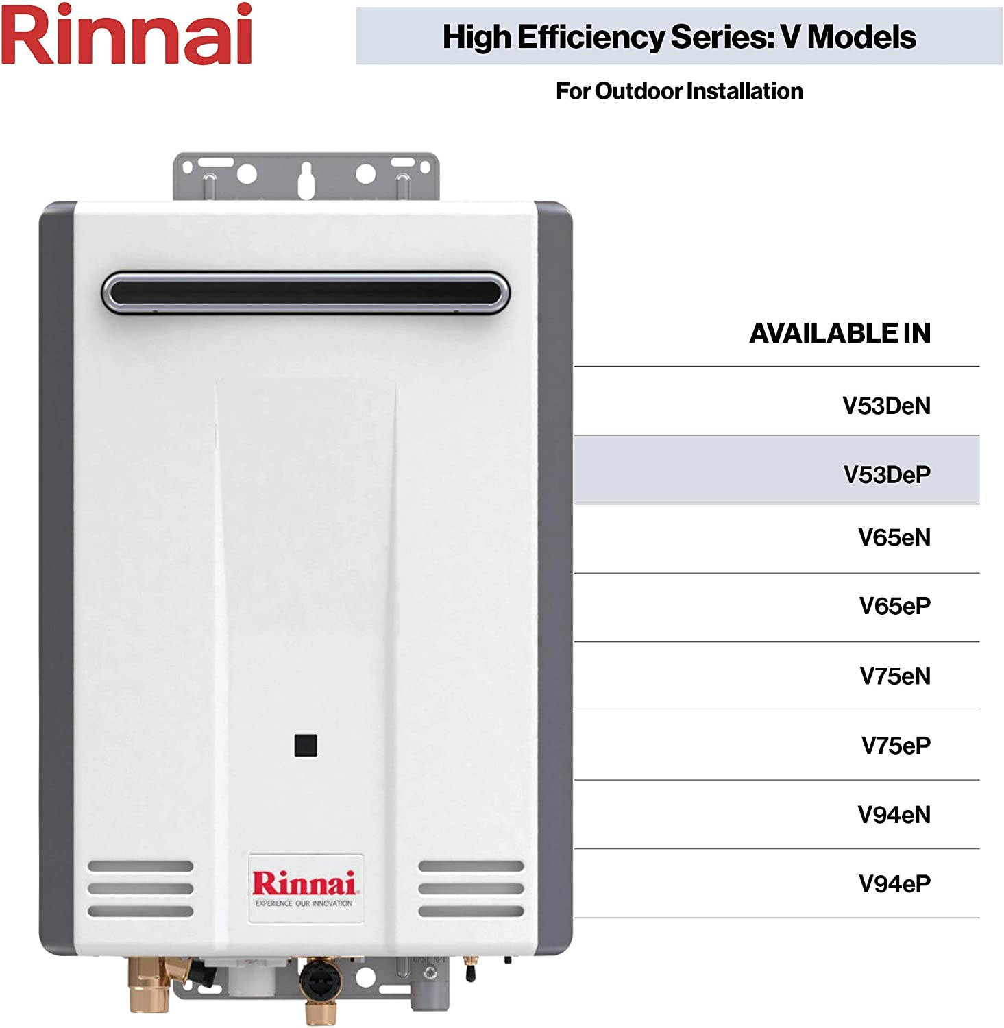 Rinnai V Series HE Tankless Hot Water Heater: Outdoor Installation Featured Image