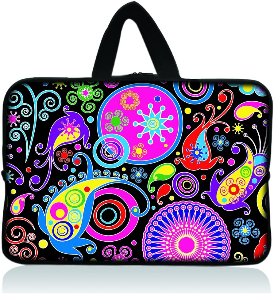 """11.6"""" 12.1"""" 12.2"""" inch Neoprene Soft Chromebook Carrying bag Laptop Sleeve Case with Handle for Macbook Pro Air 11/Samsung Google 11.6"""" Chromebook/Acer C710 C720 C720P series ChromeBook/Samsung Chromebook 2/Dell Chromebook 11/ASUS Chromebook C200MA/HP Chromebook 11 - Colorful Paisley"""