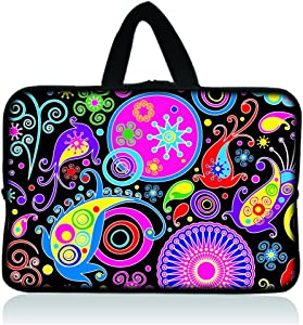 "11.6"" 12.1"" 12.2"" inch Neoprene Soft Chromebook Carrying bag Laptop Sleeve Case with Handle for Macbook Pro Air 11/Samsung Google 11.6"" Chromebook/Acer C710 C720 C720P series ChromeBook/Samsung Chromebook 2/Dell Chromebook 11/ASUS Chromebook C200MA/HP Chromebook 11 - Colorful Paisley"