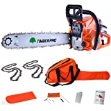 """TimberPro CS-6150 62cc 20"""" Petrol Chainsaw with 2 Chains, Carry Bag and Assisted Start"""
