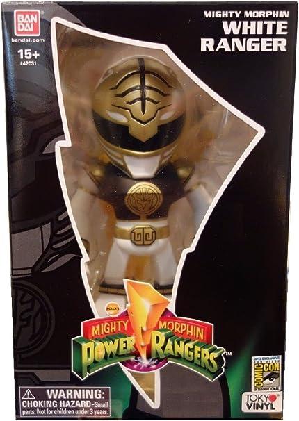 New York Comic avec Bandai édition limitée Tokyo vinyle Metallic White Power Ranger