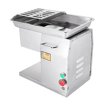 BuoQua 250KG / Stunde Desktop Aufschnittmaschine Gastro Allesschneider  Edelstahl Schneidemaschine Küche Schnittstärke 3 Mm Profi