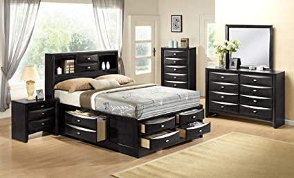 Amazon.com: Giantex Modern 5 Piece Bedroom Furniture Set Bed Dresser ...