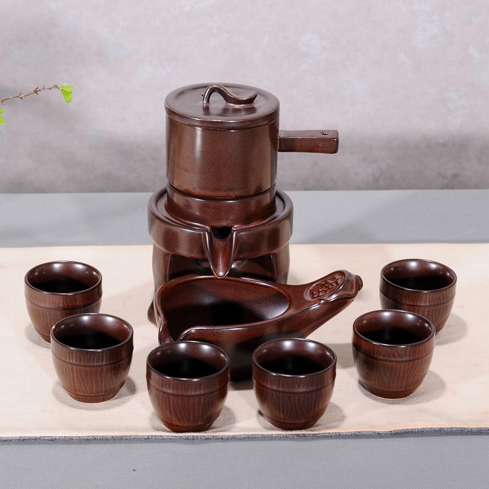 L Y Stein Halbautomatisches Geschenk Tee-Set Kreative Faule Grobe Keramik Kung Fu Teekanne